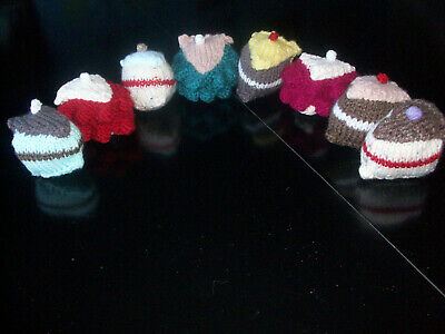 8 Different Pieces Of Cake New Hand Knitted Play Food Toy Cakes • 4£