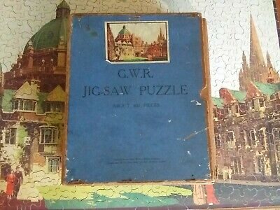 GWR Chad Valley Wooden Jigsaw Puzzle. Brazenose College Oxford. Vintage Complete • 19.50£