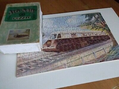 Vintage GWR Wooden Jigsaw Puzzle.  The Streamline Way. Complete. Chad Valley. • 45£