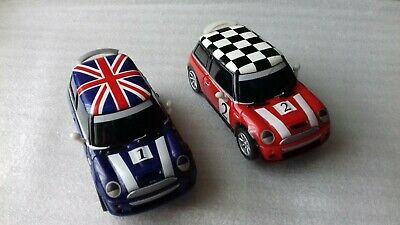 CARRERA GO!!!    A PAIR OF BMW MINI COOPER  S  CARS    ( Mains Power ) • 12.95£