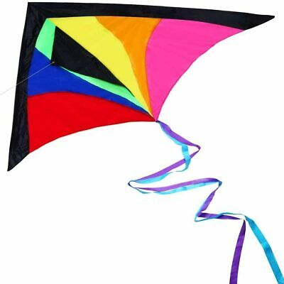 Kite For Children And Adults Bright Rainbow Colours Great Gift FAST FREE P&P • 13.98£