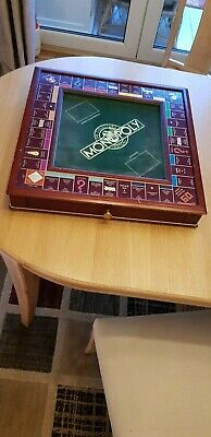 Franklin Mint Deluxe Wooden Monopoly Board, Collectors Edition 1991. • 100£