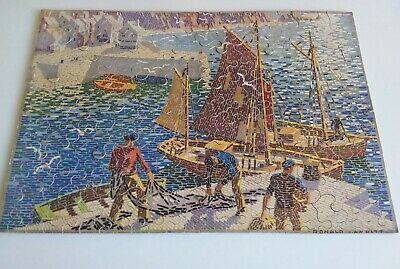 GWR Ronald Lampitt Cornwall Poster Jigsaw Puzzle. Wooden 1930s Vintage Complete. • 25£
