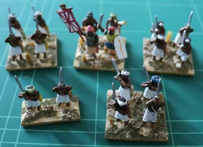 Newline Designs 28mm Ancient Indian Indian Two Handed Swordsmen And Command X 18 • 53.99£