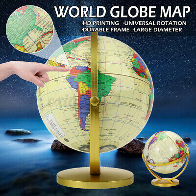 26.5CM Vintage Style Rotating Globe Swivel Map Earth Geography World Kids Gift • 16.99£