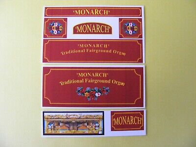 Fun Fair Organ 'monarch' Stickers – Truck Conversion Set • 2.75£