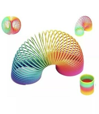2 X Large Rainbow Spring Coil Slinky Fun Kids Toy Magic Stretchy Bouncing Retro • 5.25£