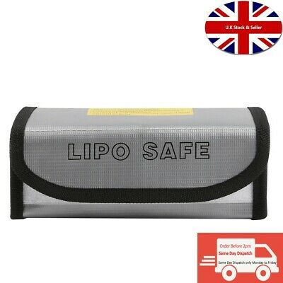 Lipo Safe Bag Fireproof Storage Protecting Battery Charger Size 18.5*7.5*6cm  • 5.99£