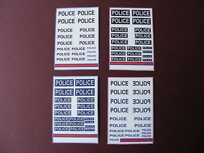 Bumper Lot Of Police Stickers On 4 Mini Sheets • 2.50£