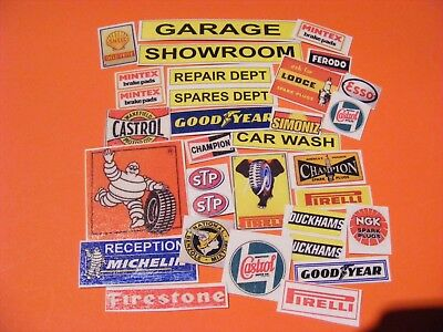 1:18 GARAGE STICKER COLLECTION X 30+ • 2.50£