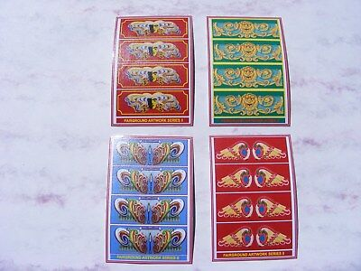 Fairground Artwork Stickers – Series 2 - 4 Mini-sheets • 2.50£