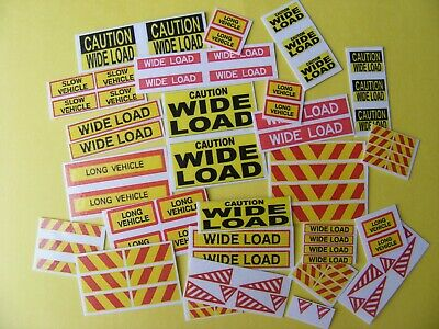 Long Vehicle/wide Load Sticker Collection • 2.25£