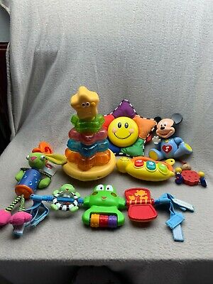 Bundle Of Baby Toys Inc Fisher Price Stacking Tower And Mickey Mouse • 22.99£