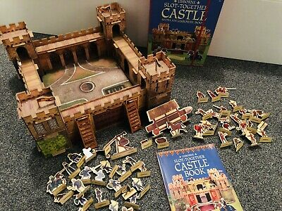 Usborne Slot Together Medieval Castle. Play Set & Book. Giftable • 20£