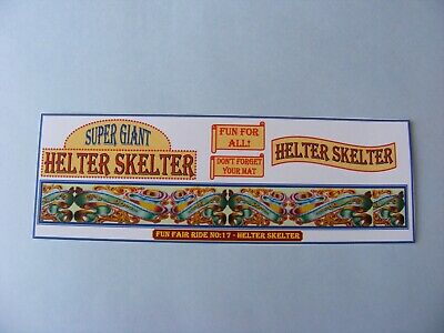 FAIRGROUND ARTWORK STICKERS – HELTER SKELTER (No:17) • 1.75£