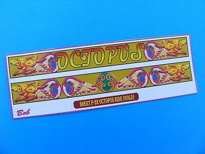 Fairground Artwork Stickers – 'octopus' (f-32) • 1.75£