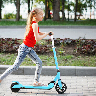 Kids 5inch STAND Electric Scooter Childrens Safe E Scooter ADJUSTABLE FOLDING UK • 89.99£