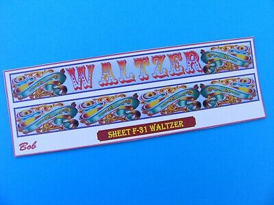 Fairground Artwork Stickers – 'waltzer' (f-31) • 1.75£