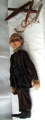 Antique Hand Made Wooden Marionette • 75£