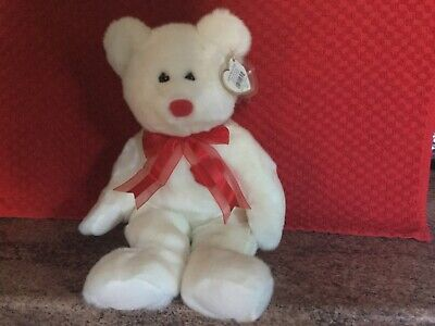 Rare Ty Beanie Buddy VALENTINO With Tags, Soft Toy Bear, Used • 4.99£
