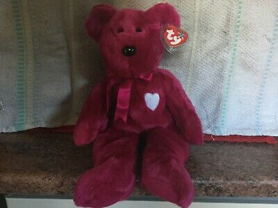 Rare Ty Beanie Buddy VALENTINA With Tags, Soft Toy Bear, Used • 4.99£