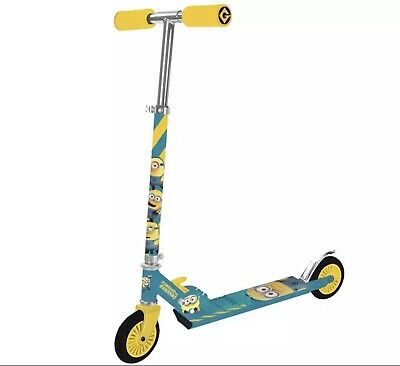 Minions Folding Inline Scooter. Great For Children 5+ *BRAND NEW* • 26.99£