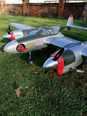 Rc Airplane P38 Hugh Wingspan 7feet 4 Ins • 250£