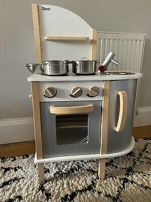 Wood Play Kitchen With Mixer, Pans And Food Bundle • 7.25£
