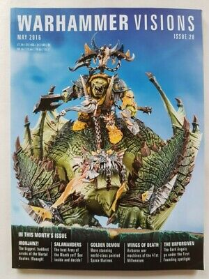 Warhammer Visions Magazine - Issue 28  - May 2016  - Games Workshop - Used • 2.30£