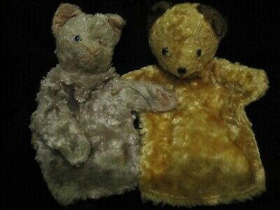 * PRUDENCE KITTEN & PUFFER DOG - BBC- VINTAGE ANTIQUE - 1950's PUPPETS  - RARE * • 4.99£