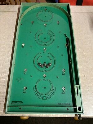 """Spears Games Tabletop Bagatelle Vintage Past Times Traditional Game. 25"""" X 12"""" • 25£"""