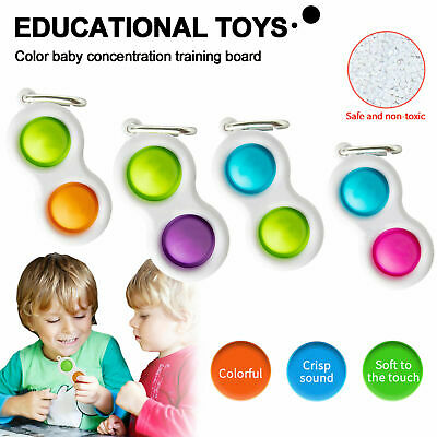Baby Simple Dimple Sensory Toys Silicone Flipping Board 0-2 Years Old Gift 2021 • 2.99£