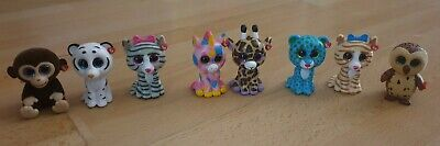 Ty Mini Boos Collectibles Mixed Bundle , Leopards, Cats, Monkey, Unicorns • 3.99£