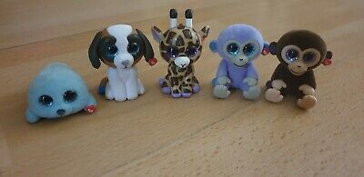 Ty Mini Boos Collectibles Mixed Bundle, Dogs, Monkeys, Unicorn Seal • 3.99£