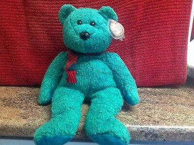 Rare Ty Beanie Buddy WALLACE With Tags, Soft Toy Bear, Used • 4.99£