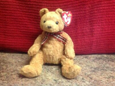 Rare Ty Beanie Baby WOODY With Tags, Soft Toy Bear, Used • 1.99£