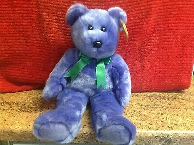 Rare Ty Beanie Buddy EMPLOYEE BEAR With Tags, Soft Toy Bear, Used • 4.99£