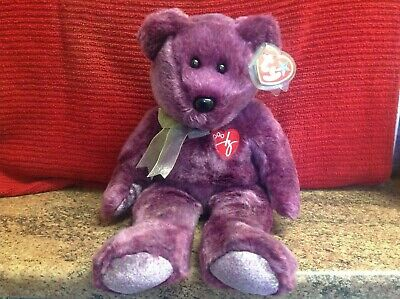 Rare Ty Beanie Buddy 2000 SIGNATURE BEAR With Tags, Soft Toy Bear, Used • 4.99£