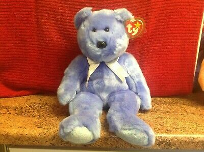 Rare Ty Beanie Buddy CLUBBY II With Tags, Soft Toy Bear, Used • 4.99£