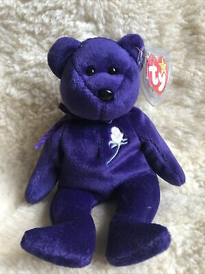 Retired TY Beanie Baby Bear ~  Princess 1997 ~ NWT • 19.99£