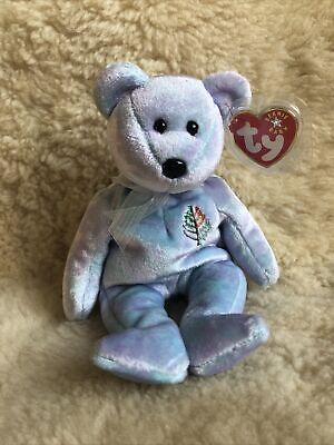 Retired TY Beanie Baby Bear ~  Issy Four Seasons Nevis 2001 ~ NWT • 4.99£