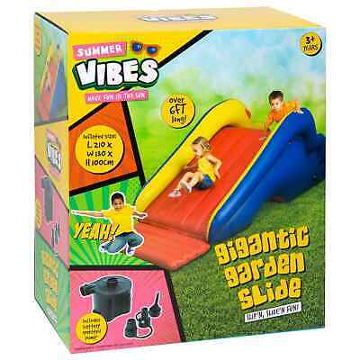 Gigantic Inflatable Garden Slide With Electric Pump Hours Of Slippin&Slides Fun • 74.95£