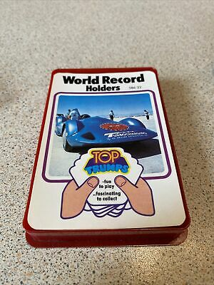 VINTAGE 1970s WORLD RECORD HOLDERS TOP TRUMPS • 1.50£