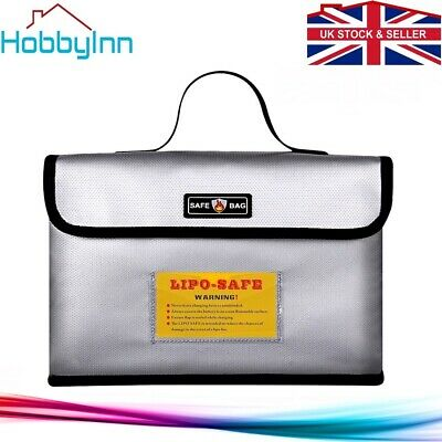 Lipo Safe Bag Fireproof Storage Protecting Battery Charger Size 26 * 18 * 13cm • 11.99£
