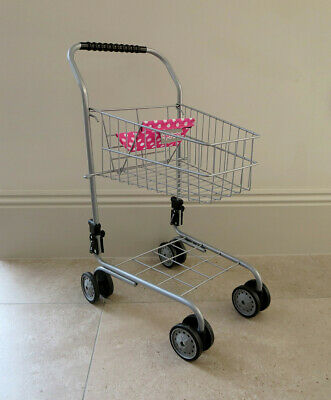 Molly Dolly Childrens Metal Toy Shopping Trolley Age 3+ • 1£