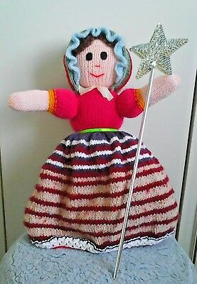 Topsy Turvy Upside Down Doll Circa 1990's Hand Crafted  With Sequin Wand,  • 12.50£