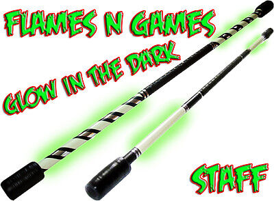 1.4m Glow Luminous Contact Practice Staff / Fire Staff Juggling • 28.99£
