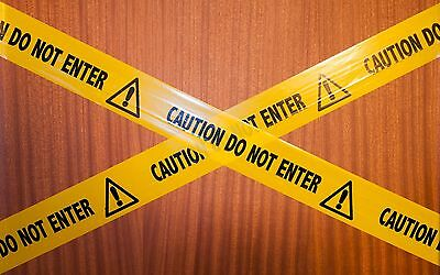 Prank Barrier Tape  X 5m - CAUTION DO NOT ENTER • 2.99£