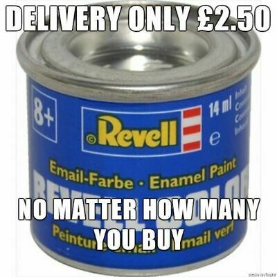 Revell Hobby Model Paints 14ml - Delivery Only £2.50 No Matter How Many You Buy • 2£