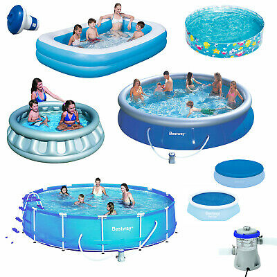 Outdoor Inflatable Swimming Paddling Pool Garden Family Pools Kids & Accessories • 19.99£